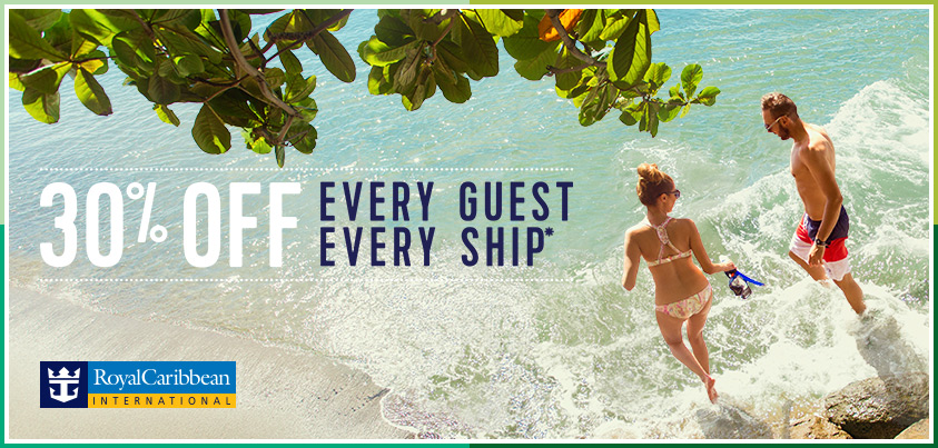30% off Every Guest Every Ship through EnjoyVacationing.com