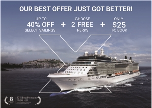 Celebrity's Best Offer Just Got Better - Contact Enjoy Vacationing to learn more info@enjoyvacationing.com