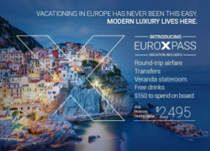 Celebrity cruises all-encompassing Europe packages starting at $2,495 through EnjoyVacationing.com