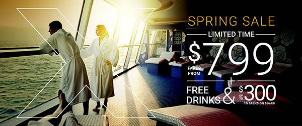 Celebrity Cruise spring sale from EnjoyVacationing.com