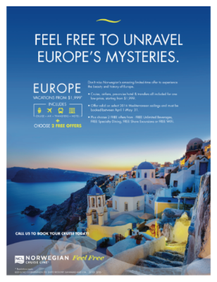 See Europe for $1999 including air, cruise, hotel & transfers!