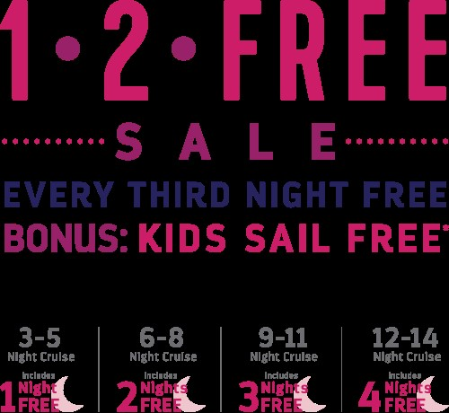 1-2-Free Sale from Royal Caribbean and Enjoy Vacationing!