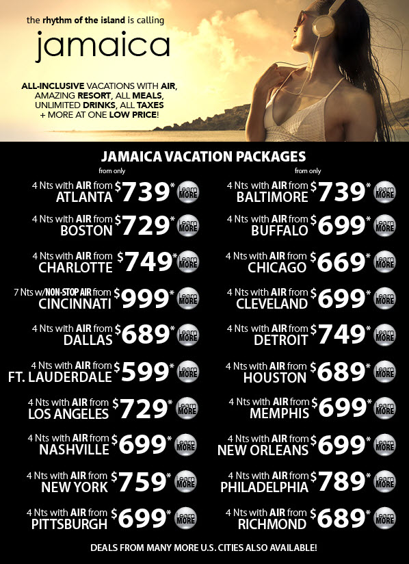 The rhythm of the island is calling - Jamaica all inclusive vacations