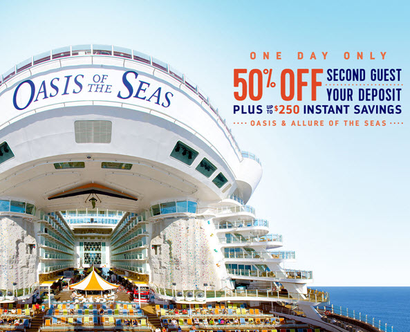 Oasis & Allure of the Seas - One day only sale from Enjoy Vacationing!