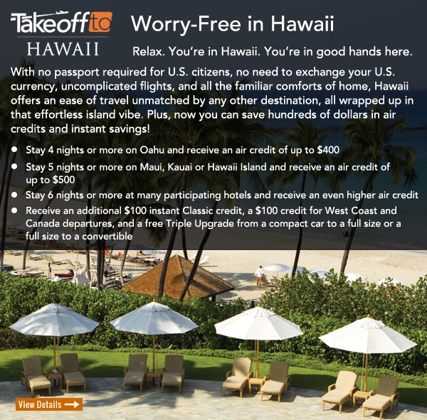 Take off to Hawaii with deals from EnjoyVacationing.com