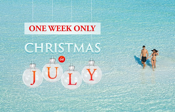 AM Resorts Christmas in July sale through EnjoyVacationing.com - now through August 3, 2016!