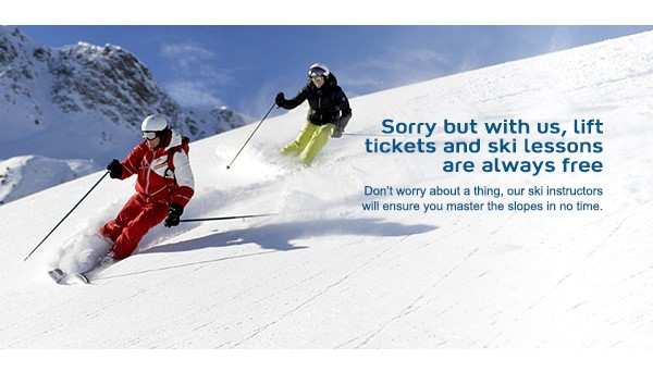 Sorry Rockies - Lift Tickets Are Free!  EnjoyVacationing.com can help you get there!