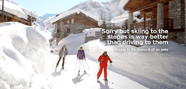 Sorry Rockies - Skiing to the slopes is way better than driving to them!. EnjoyVacationing.com can help you get there!