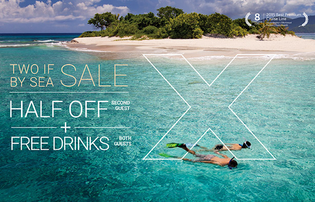Two if by Sea Sale - half off second guest + free drinks - from EnjoyVacationing.com travel agency