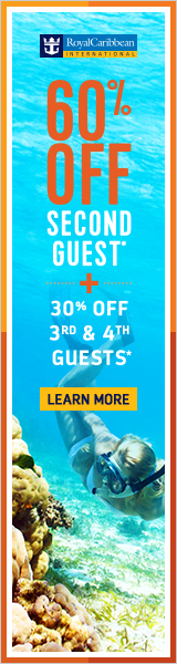 60% off second guest plus! On Royal Caribbean Cruises - from EnjoyVacationing.com Travel Agency