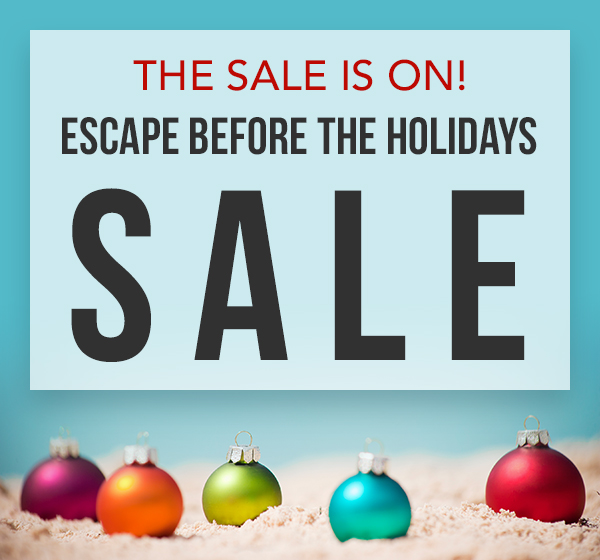 Escape before the holidays and save at Sunscape resorts from EnjoyVacationing.com