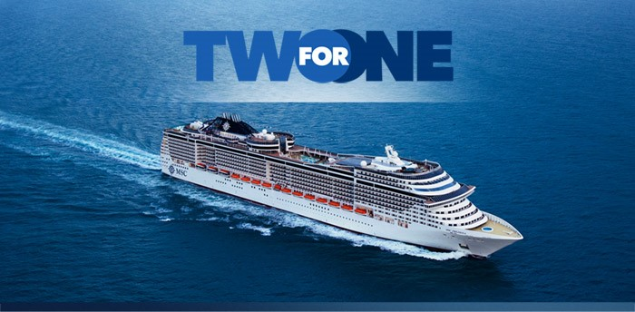MSC Black Friday sale - 2 for 1 cruises
