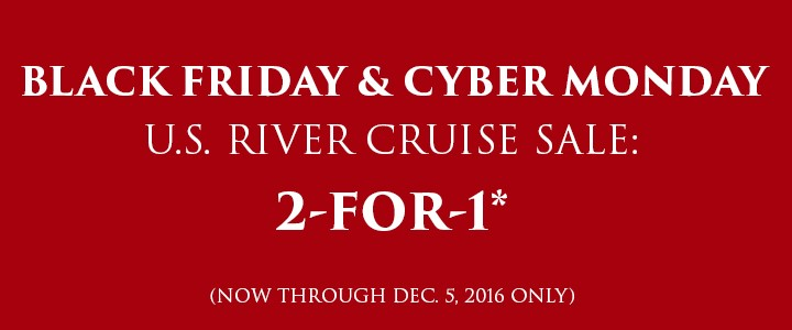 Black Friday sale on US River Cruises from EnjoyVacationing.com
