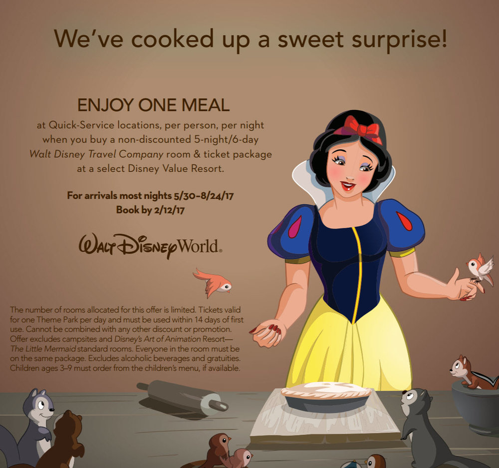 We've Cooked up a Sweet Surprise. Enjoy Vacationing can get you to Disney!