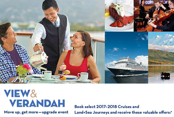 View & Verandah Holland America cruise sale from Enjoy Vacationing Travel Agency