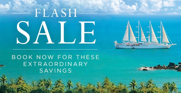Windstar Flash Sale On Now through 2/3 Act Fast!