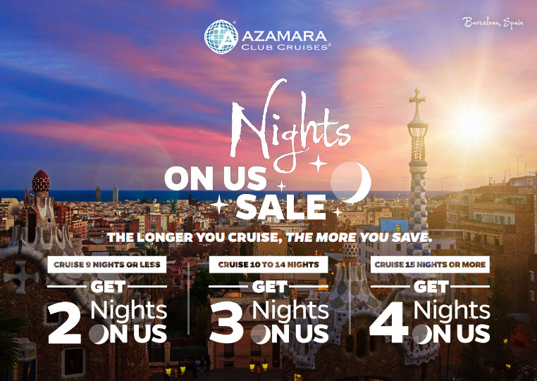Nights on Us Cruise Sale - info@EnjoyVacationing.com