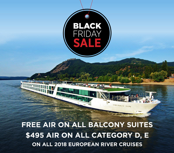 Black Friday sale on European River Cruising - free air?!?!