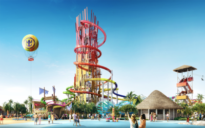 THRILL WATERPARK  The biggest wave pool in the Caribbean and the tallest waterslide in North America – the 135-foot Daredevil's Peak – are just two of the thrills your family can conquer.