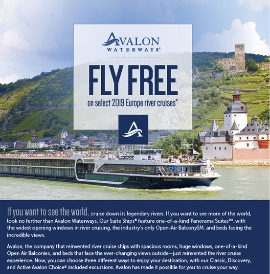 Fly Free on Select 2019 European River Cruises - Enjoy Vacationing!