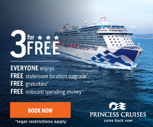Princess 3 for Free Sale - one of our favorite cruise sales of the year!