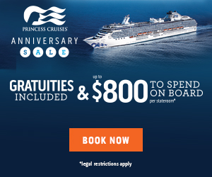 Remember this anniversary for free gratuities and on board spending money!