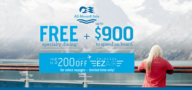 All Aboard Sale from Princess Cruises and Enjoy Vacationing