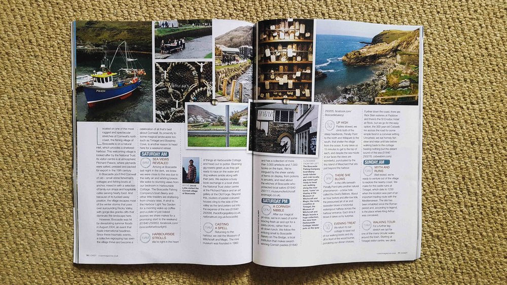 'A weekend in Boscastle' - Coast Magazine - March 2017 A blustery, wintery weekend spent enjoying Boscastle and the coastline surrounding it. March 2017 Coast Magazine 'Weekend In...' feature with my words and photography