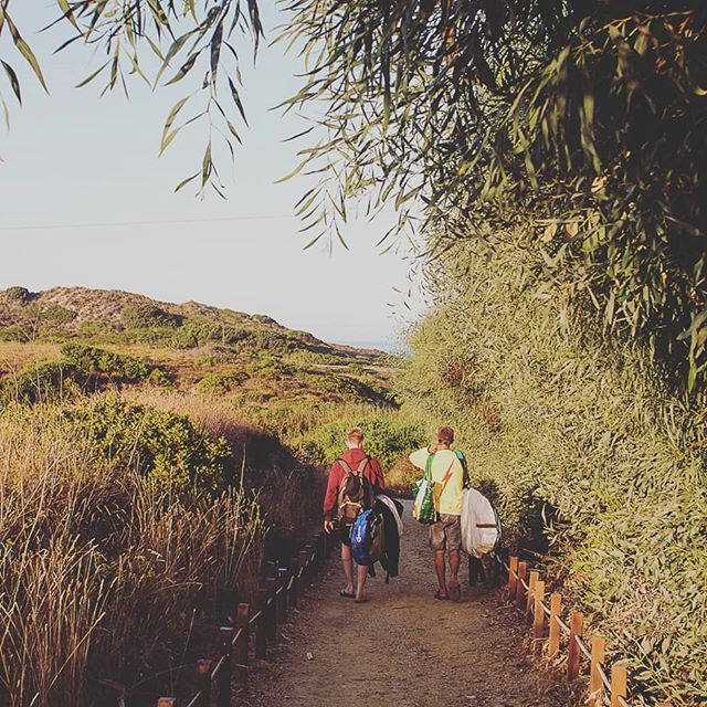 Early morning strolls to the beach Portugal style