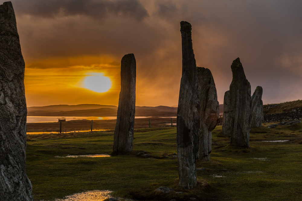The Calanais Stones , Isle of Lewis