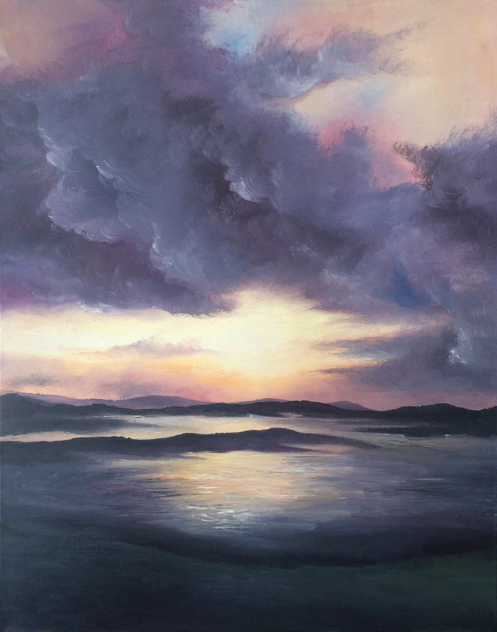 Sunrise on callanish - oil on canvas