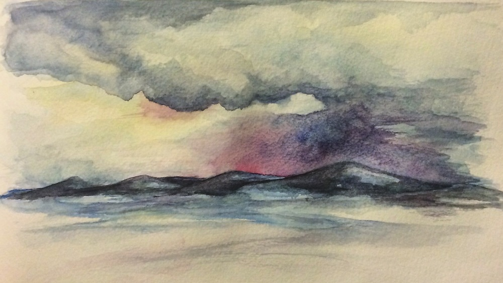 Lochgavinch At Sunset - Watercolour