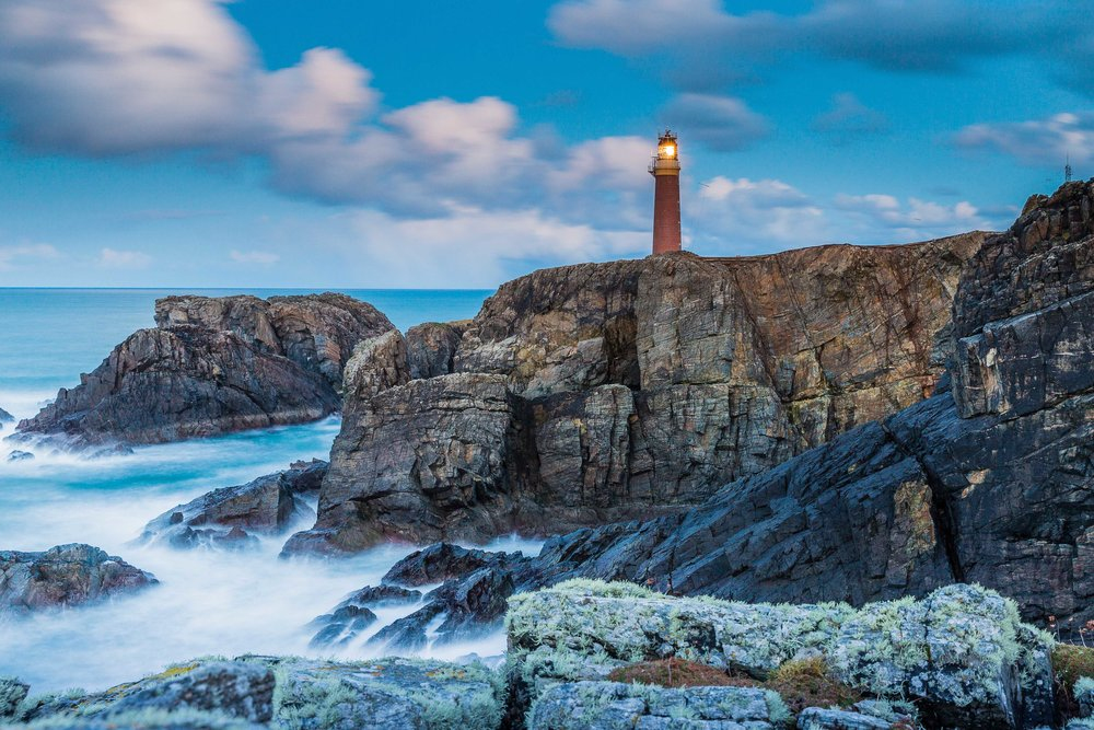 This was one of my favourite locations from our trips last year. It's called the Butt of Lewis and is one of the furthest points in the Outer Hebrides, on the Isle of Lewis and Harris. It's officially the windiest point in Europe.
