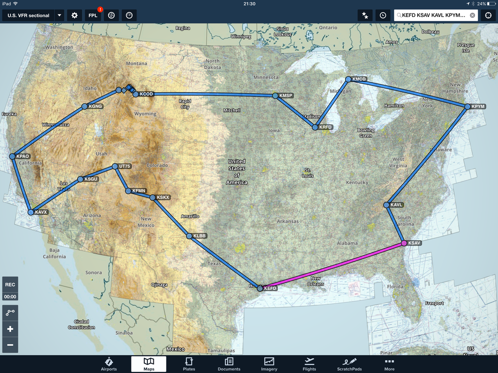 Foreflight Route