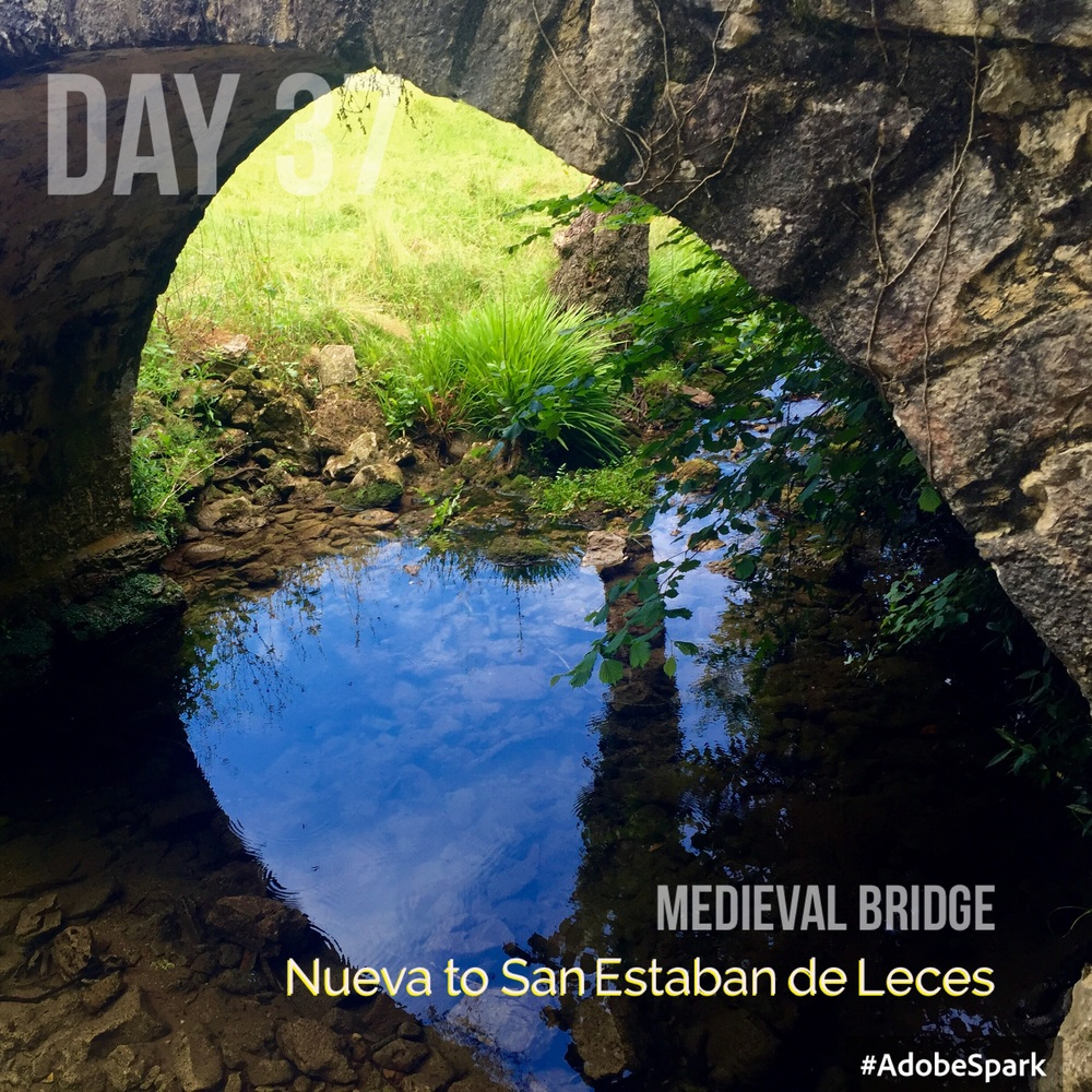 Stone bridges are a feature along the Camino
