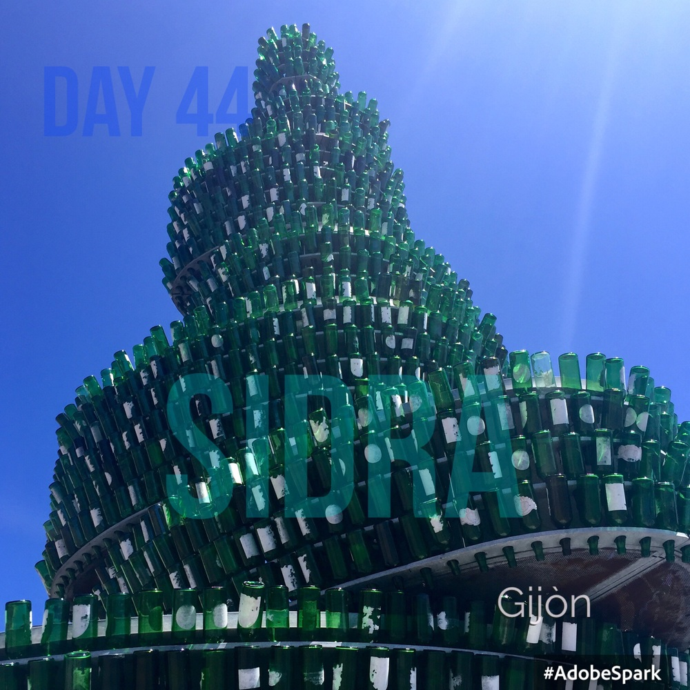 Cider bottle 'tree' on the harbour quay