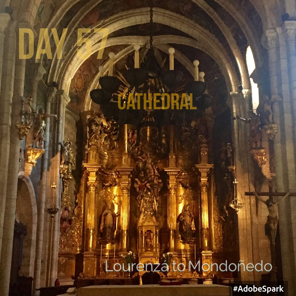 The cathedral has a fine gold reredos