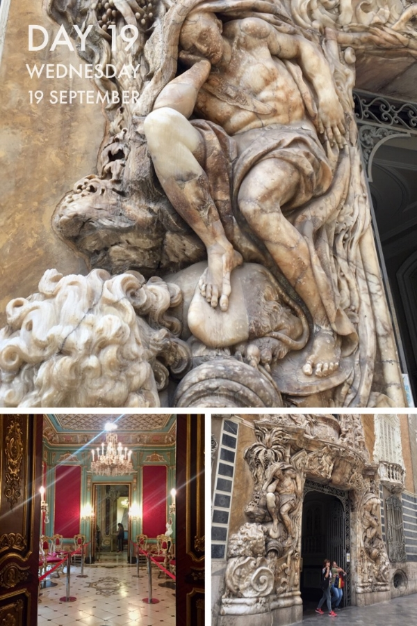 The Ceramics Museum is housed in the remarkable   Palacio del Marques de Dos Aguas  .which has a spectacular carved alabaster facade and lovely crimson and jade coloured interiors.