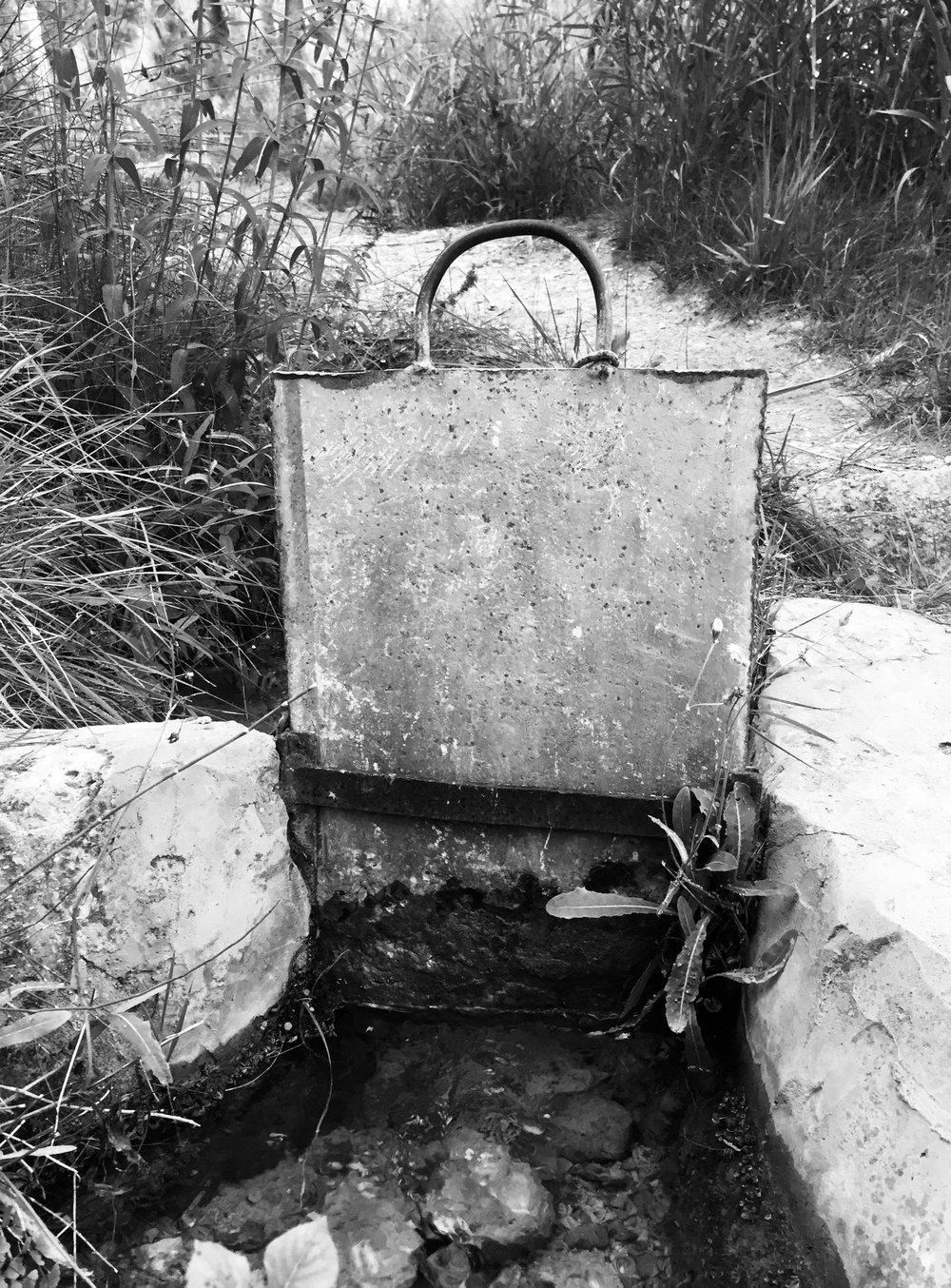 Sluice-gate, River Chelva