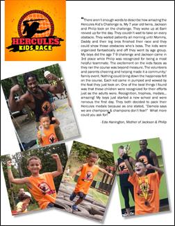 Hercules Kids RACE TestimonIAL