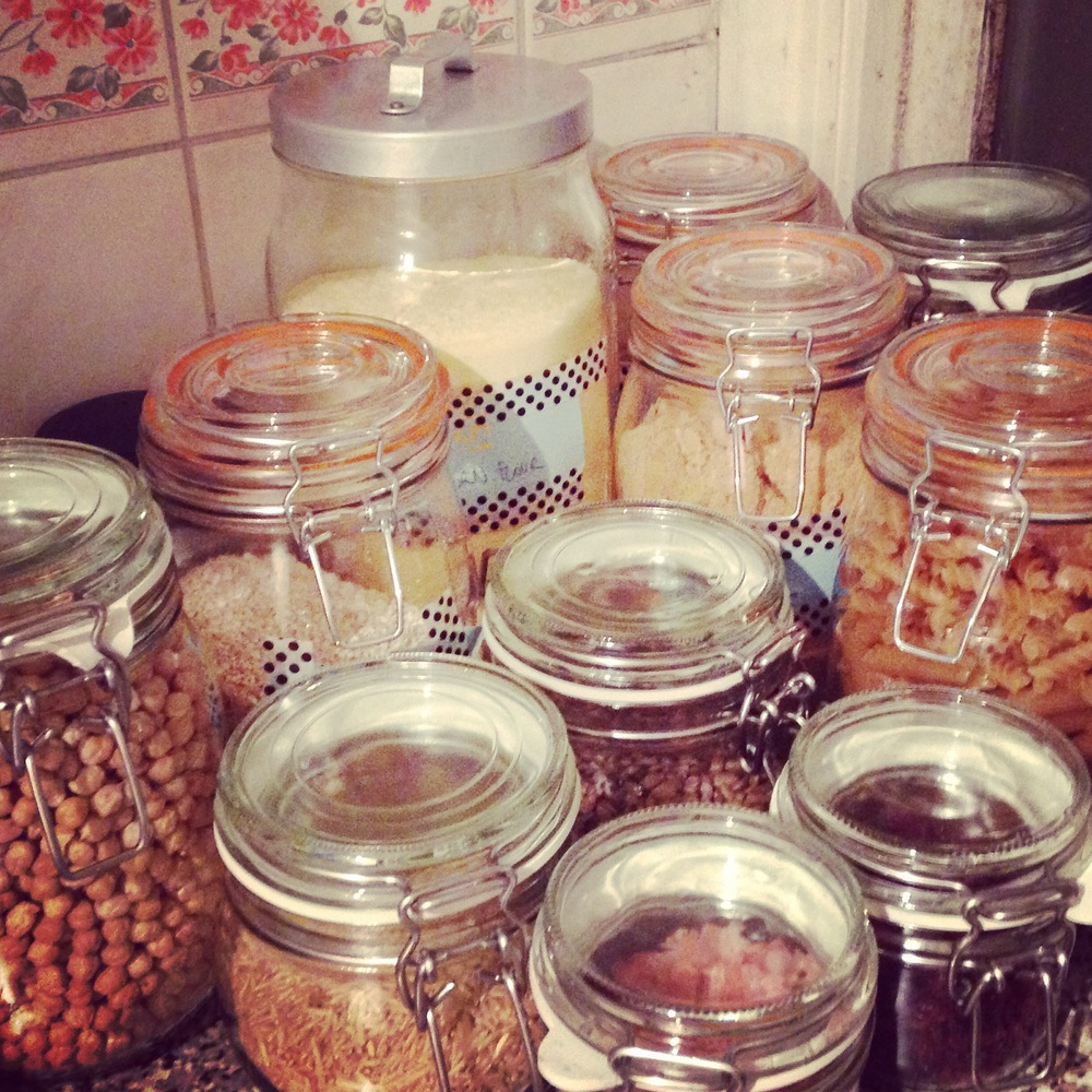 Vegan diet jars