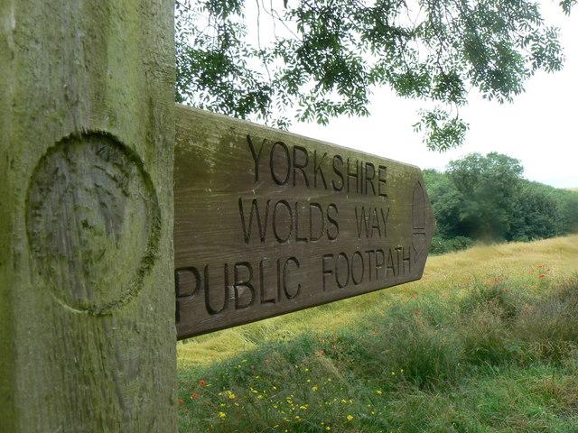 Yorkshire Wolds Way, copyright Bernard Bradley