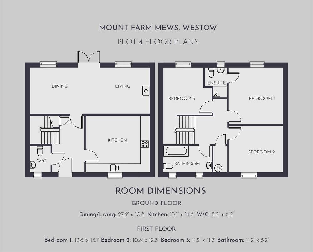 Plot 4 Floor Plans