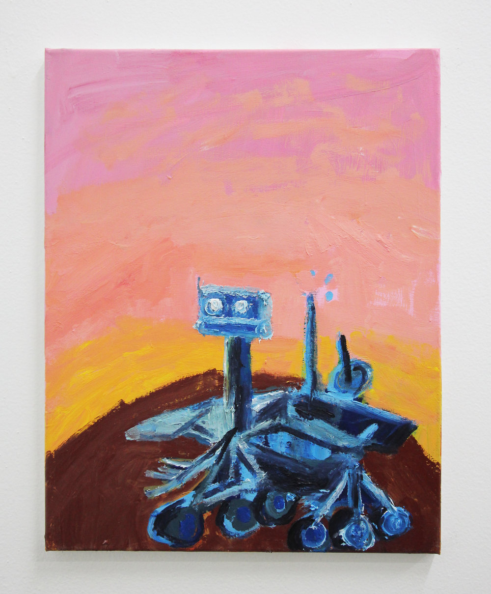 Short Circuit 16x20in Acrylic on canvas 2018