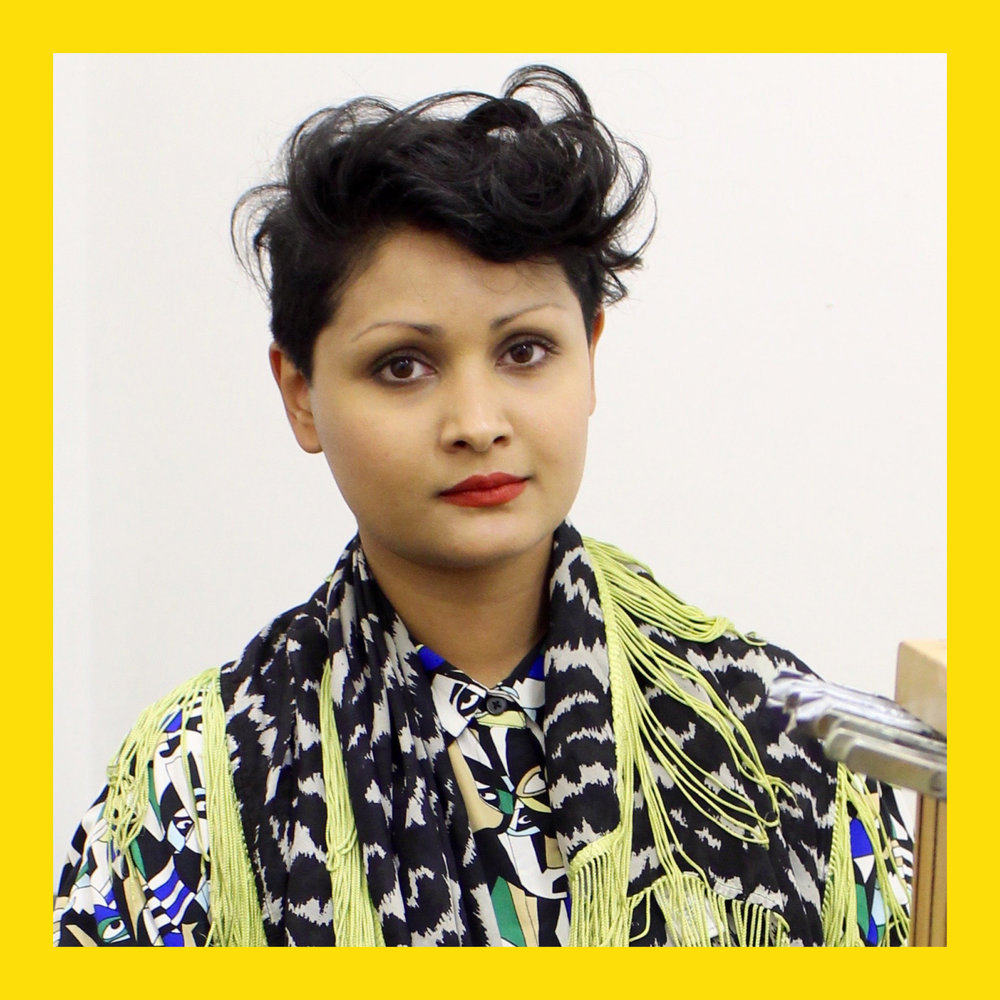 - Raisa Kabir is an interdisciplinary artist, who utilises woven text/textiles, sound, video and performance to translate and visualise concepts. Her (un)weaving performances comment on power, production, disability and the body as a living archive of collective trauma.