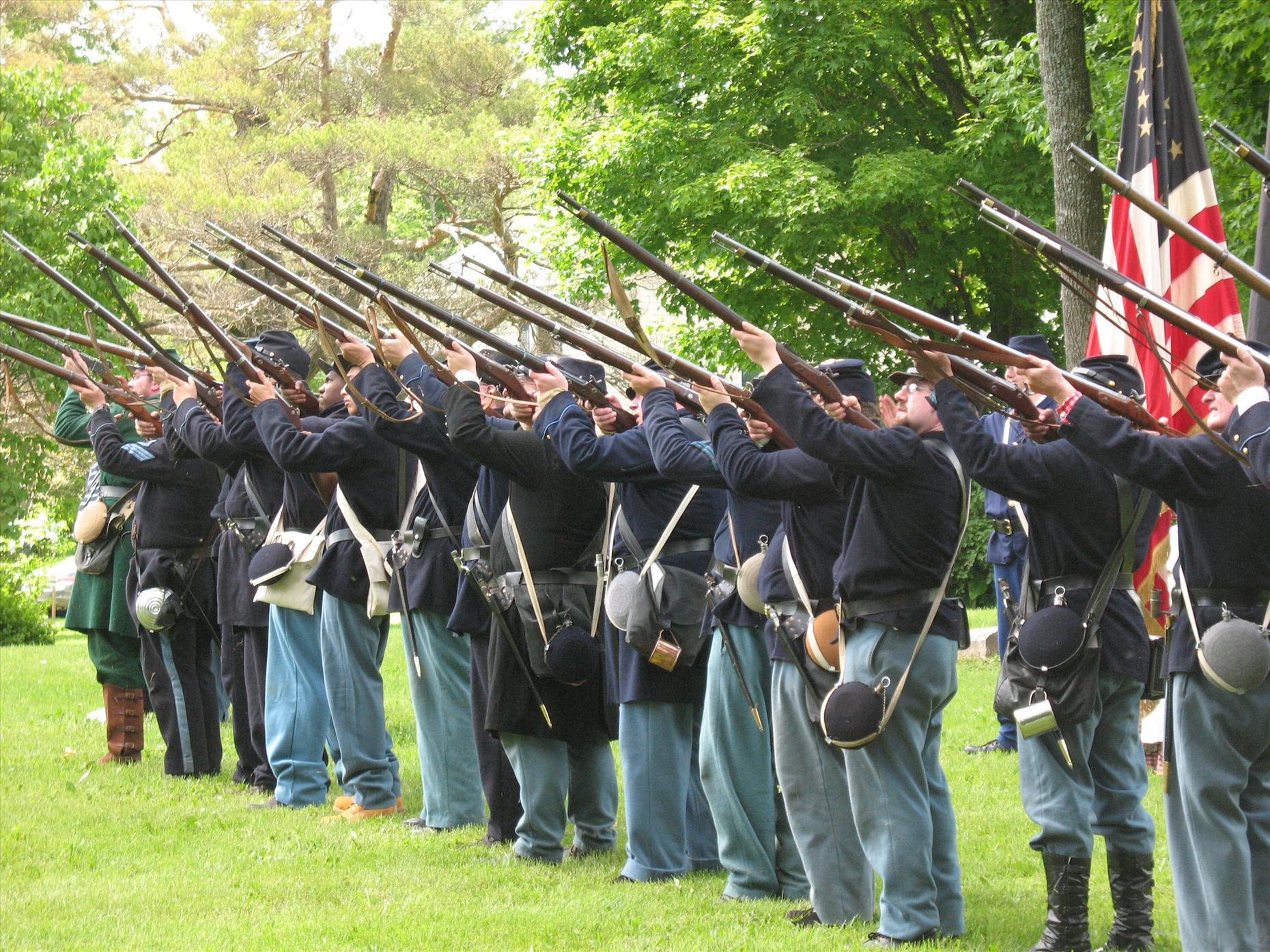 We played hookey Sunday to go see the Civil War reenactment at the Gerritt Smith estate--so much cool history in CNY!