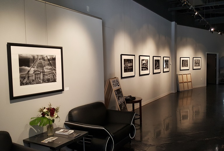 Some of the prints hanging at my show. Remember, the exhibit runs until April 28 at Evermore Gallery, 780 W.Main Street in Boise. The gallery hours are Monday-Friday, 10-6.