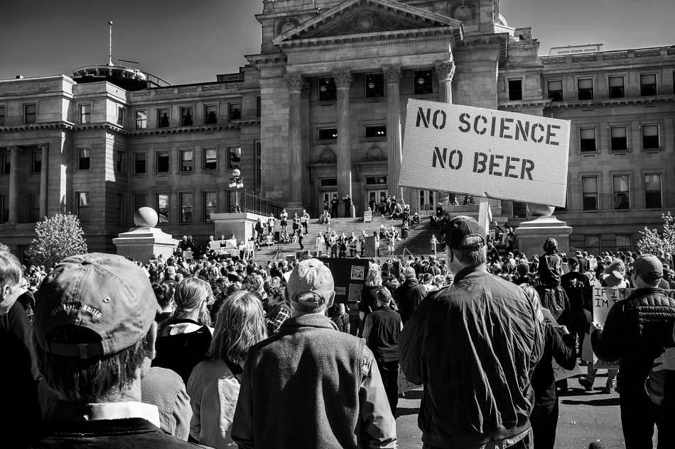 #marchforscience at the Capitol Building, Boise, Idaho - 2017