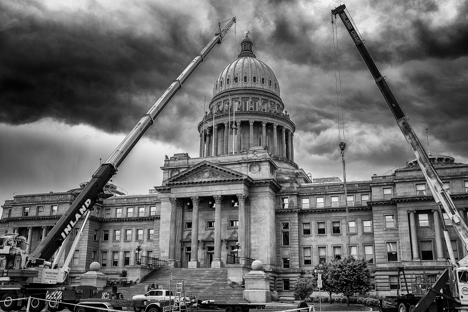 Capitol with Cranes