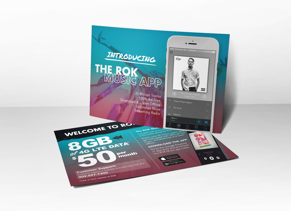 As a freelance designer at ROK Mobile I helped create promotional material including flyers posters and tent cards for wireless retail stores. & ROK MOBILE u2014 Jovani Silva